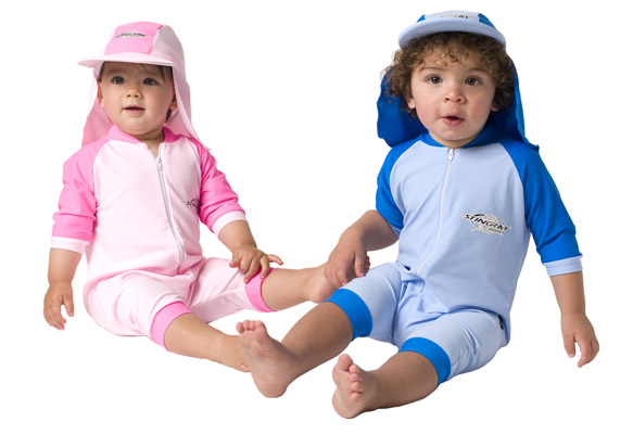 For babies younger than 6 months: Use sunscreen on small areas of the body, such as the face, if protective clothing and shade are not available. For babies older than 6 months: Apply to all areas of the body, but be careful around the eyes.