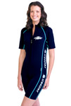 Sun Protection Ladies Raysuit Short Sleeved - Sports Style
