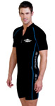 Sun Protection Mens Raysuit Short Sleeved - Sports Style