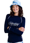 Sun Protection Ladies Surf Shirt Long Sleeved Sports Style