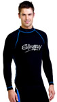 Sun Protection Mens Surf Shirt Long Sleeved Sports Style