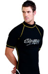 Sun Protection Mens Surf Shirt Short Sleeved