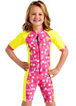 Sun Protection Kids Hawaii Sunsuit Short Sleeved