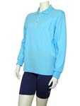 Sun Protection Ladies Long Sleeved Polo Shirt
