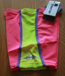 Sun Protection Kids Swim Shorts Pink and Yellow