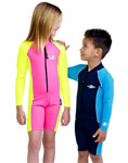 Sun Protection Kids Long Sleeved Pink and Yellow 2y Sunsuit